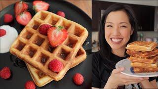 Perfect Waffle Recipe - Crispy &amp Fluffy - Lockdown Kitchen!