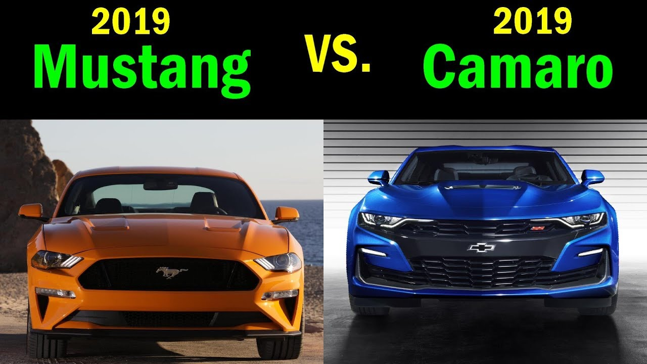 2019 chevy camaro ss vs ford mustang gt visual comparison