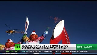 Mountain High: Olympic flame reaches Europe