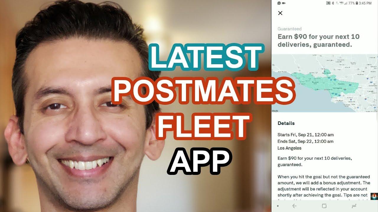 Latest Postmates Fleet App