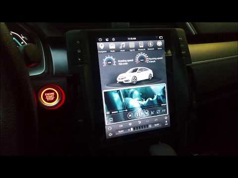 Part 1 Vertical screen Tesla-style Android navigation head unit for 2016 2017 Honda Civic DEMO VIDEO
