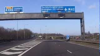 UK Motorways - M6 north onto M42 South