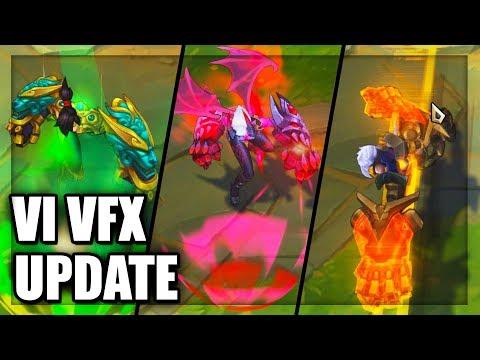 All Vi Skins Visual Effects Update (VFX) 2018 - League of Legends
