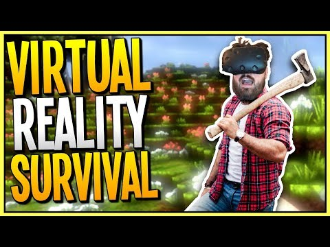 EXPLORING A MASSIVE WORLD AND BUILDING OUR TOWN IN VIRTUAL REALITY - CyubeVR Gameplay - VR HTC Vive