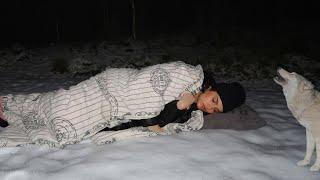 جربت انام بالغابة الثلجيةالمرعبة لمدة يوم كامل | سلسلة بعد منتصف الليل 💔