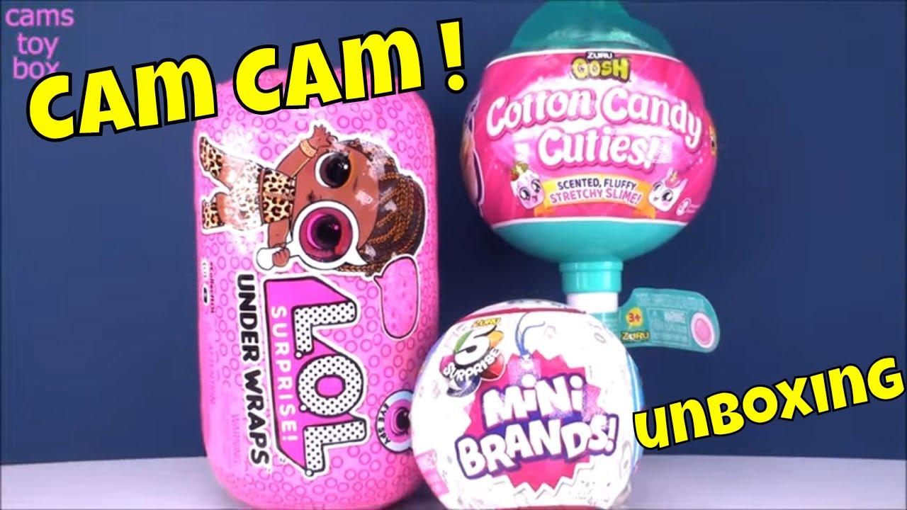 Cam Cam Unboxing Lol Surprise Under Wraps 5 Mini Brands Oosh Cotton