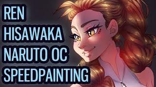 【Speedpaint】Naruto OC: Ren Hisawaka [Zari's Style Colours Fullbody Digital Illustration Commission]