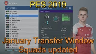 PES 2019 - Squards Updated with January Transfers   Arsenal v PSG   Xbox One X (4k)