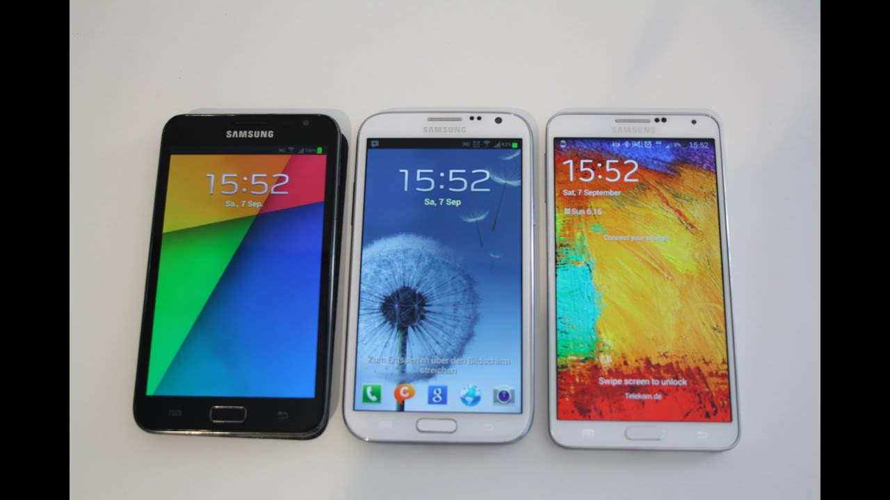samsung galaxy note 3 vs note 2 vs note 1 youtube. Black Bedroom Furniture Sets. Home Design Ideas