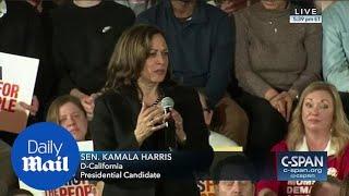 Kamala Harris calls Trump's border wall a 'vanity project'