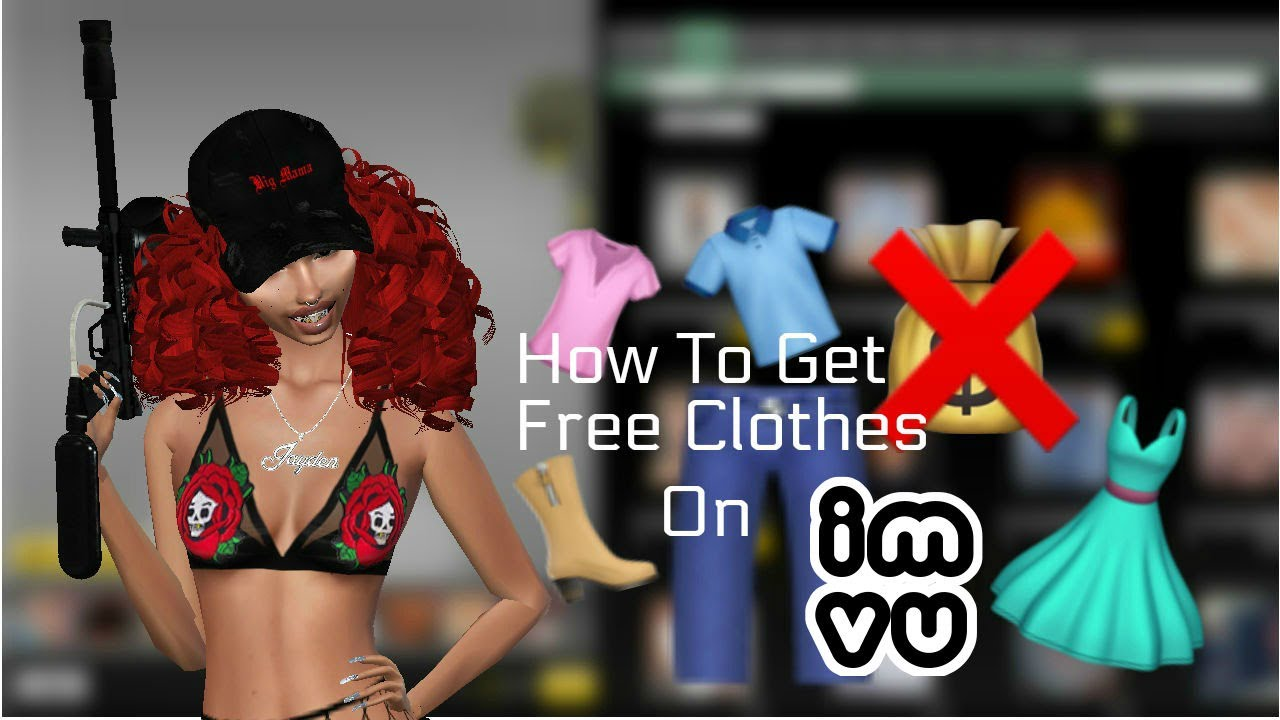 imvu how to get free clothes