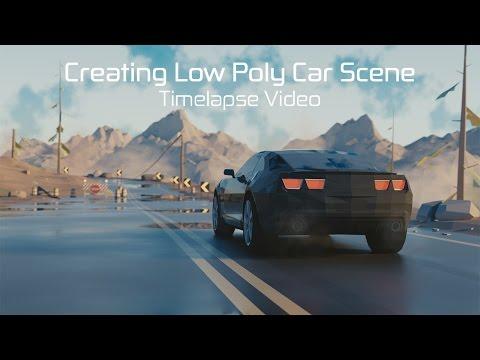Blender Timelapse: Creating Low Poly Car Scene