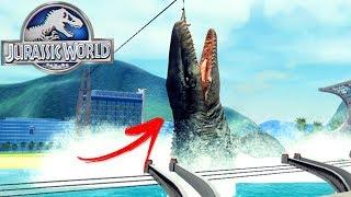 Jurassic Explorer - Visitando JURASSIC WORLD, Mosasaurus e T-Rex!   Dinossauros (PT-BR)
