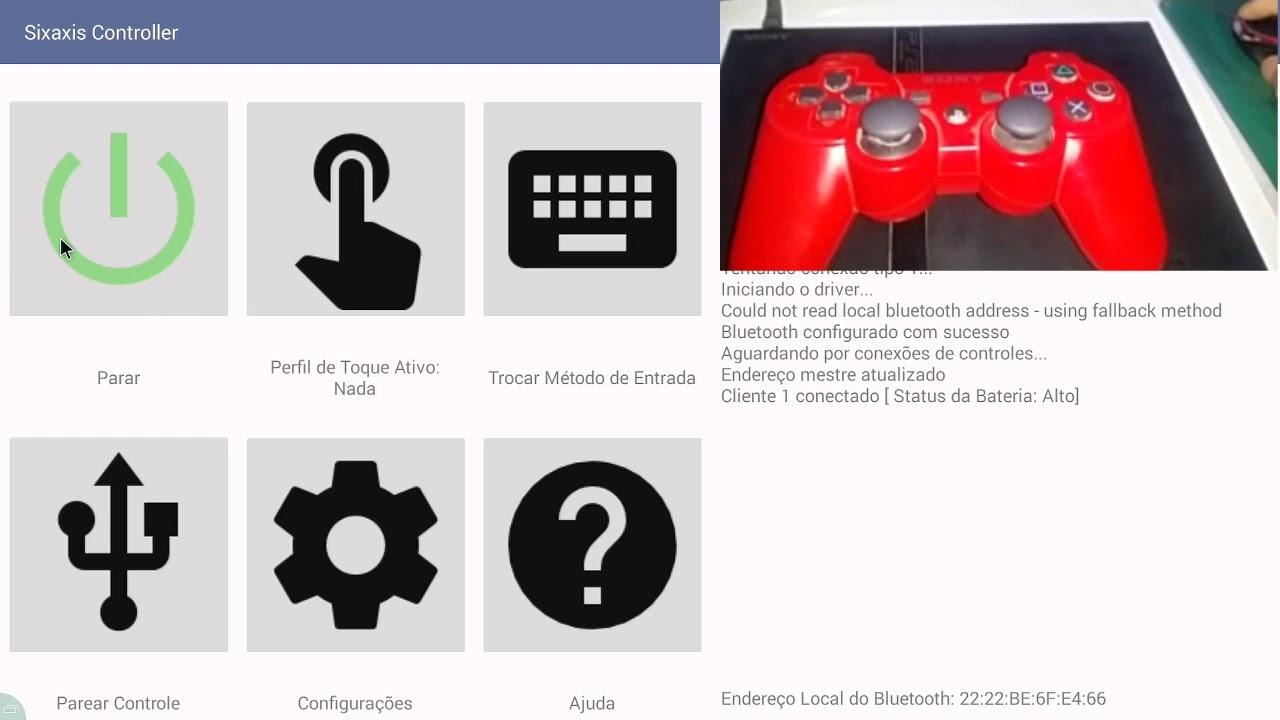 Tutorial controle PS3/PS4 no android para jogar PUBG ou qualquer jogo  Sixaxis controller