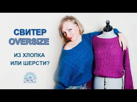 Вязаный спицами пуловер  Женские модели