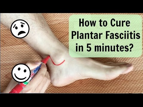 How To Cure Plantar Fasciitis(Heel Pain) in 5 minutes?如何在五分鐘內解決足底筋膜炎?/ Chinese Therapy