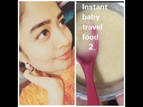 Baby travel food recipe 2 @ instant #by havilah elsha kitchen