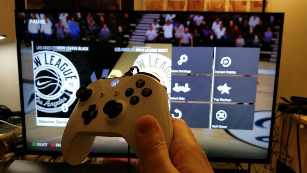 NBA Live 18 Demo on Xbox One S via TCL Roku TV 55p605