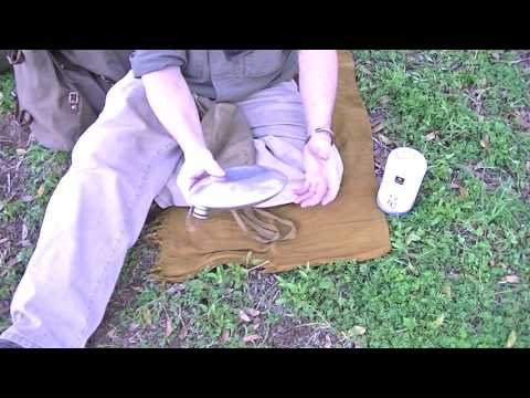 VINTAGE WOODSCRAFT HOW TO CLEAN A OLD CANTEEN