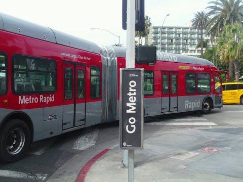 Ridin Los Angeles. MTA Rapid- Bus 720-Wilshire Blvd--Santa Monica to Westwood