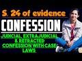 CONFESSION IN SECTION 24 OF EVIDENCE ACT, JUDICIAL, EXTRAJUDICIAL AND RETRACTED CONFESSION
