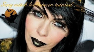 Makeup na  Halloween - Sexy čarodějka/ Halloween makeup look Sexy witch