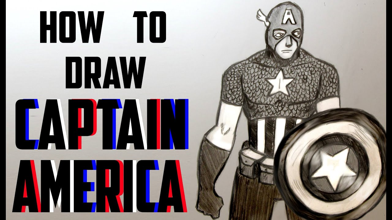 Ep. 120 How to draw Captain America - YouTube
