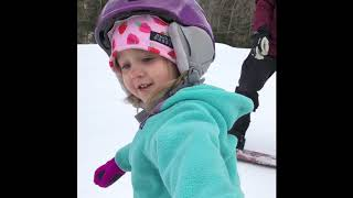 Violet's first day on the chairlift