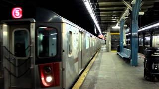 IRT Subway: Dyre Bound R142 OPTO (5) Shuttle Train at Pelham Parkway