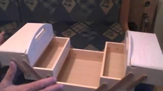 видео Шкатулки для рукоделия