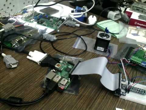 Raspberry Pi Gpio Stepper Motor Control Youtube