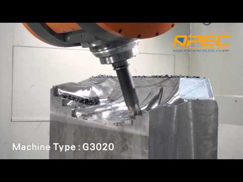 Tire mold, High speed cutting by G3020 , 5 axis gantry machining center, APEC