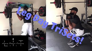Leg Day Trisets | Home & Gym Workout | Build strong legs