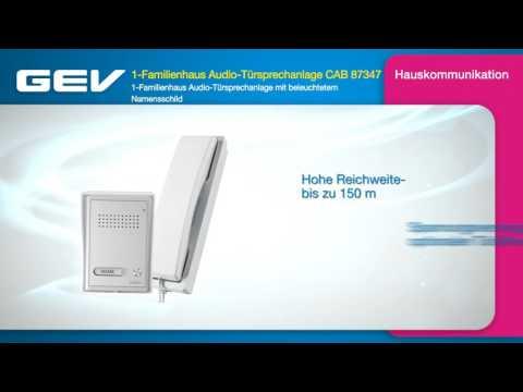 GEV 1-Familienhaus Audio-Türsprechanlage CAB 87347
