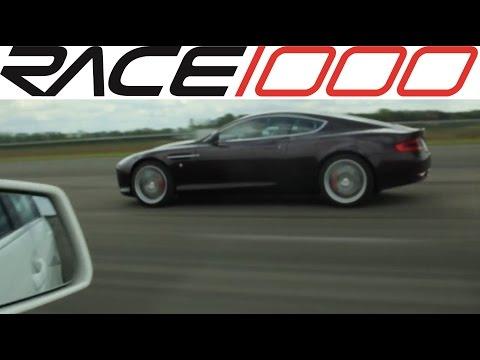 Aston Martin DB9 vs. Mercedes C63 AMG - ROLL RACE