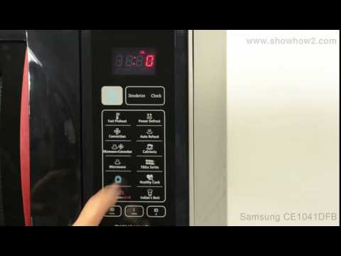 Samsung Ce1041df B Convection Microwave Oven How To Set