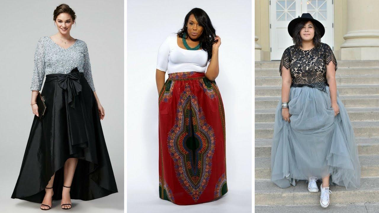 669b42695 FALDAS LARGAS PARA GORDITAS ♥ #Moda #Fashion #Faldas