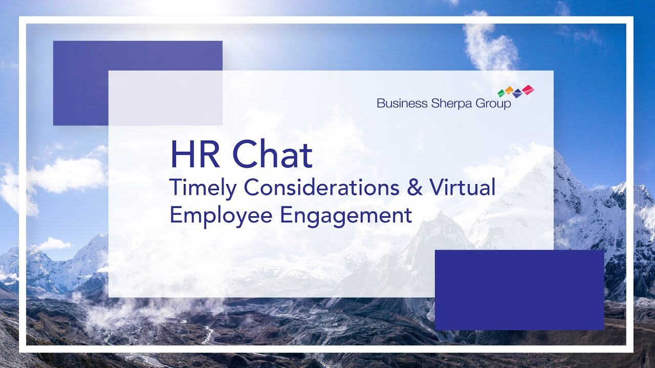 HR Chat - Considerations for Reopening and Virtual