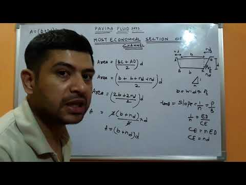 Most economical trapezoidal channel