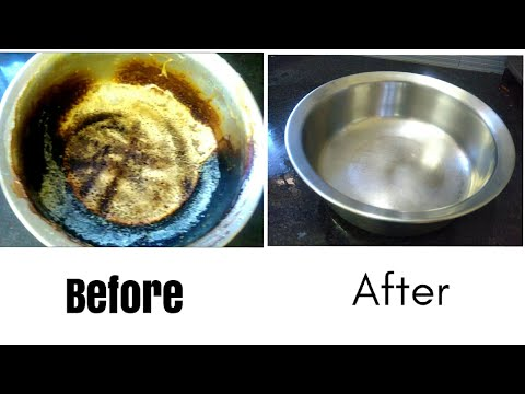 How to clean a burnt vessel / burnt milk vessel cleaning / DIY