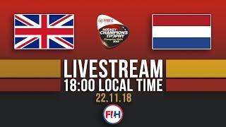 Great Britain v Netherlands | 2018 Women's Hockey Champions Trophy | FULL MATCH LIVESTREAM
