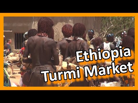 Ethiopia - Hamar market in Turmi, lower Omo valley