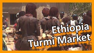 Ethiopia - Hamar market in Turmi, lower Omo valley