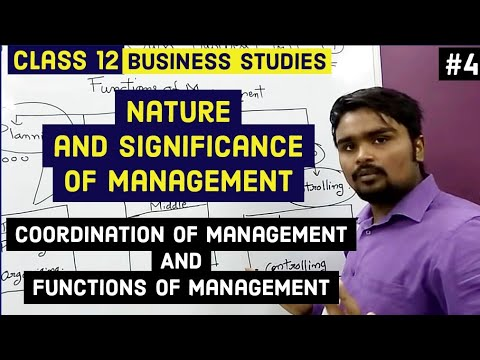 Class 12 business studies(functions of management and coordination)mind your own business video 4