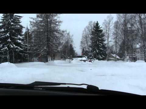 Sightseeingdrive in Viinijärvi village, Liperi commune, Finland