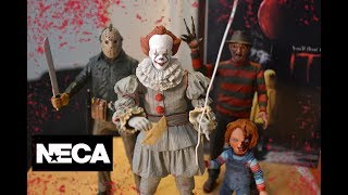 "NECA Ultimate PENNYWISE IT 2017 Movie 7"" FIGURE toy unboxing & review!"