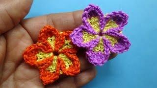 Маленький пятилистник Вязаные цветы 87 Crochet flower pattern(ТОВАРЫ ДЛЯ ВЯЗАНИЯ от производителей* http://ali.pub/i9grj Хочешь получать новые видео прямо на емайл? Подписка..., 2016-09-28T08:10:37.000Z)