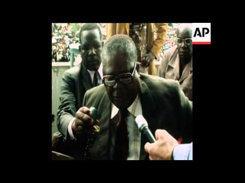 SYND 20 12 76 INTERVIEW WITH JOSHUA NKOMO ABOUT ASSASSINATION PLOT AGAINST HIM