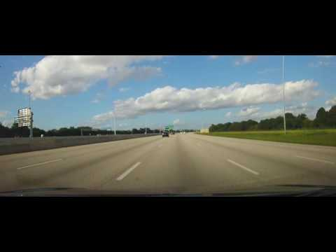Driving on Interstate 75 in Miami-Dade and Broward Counties, Florida