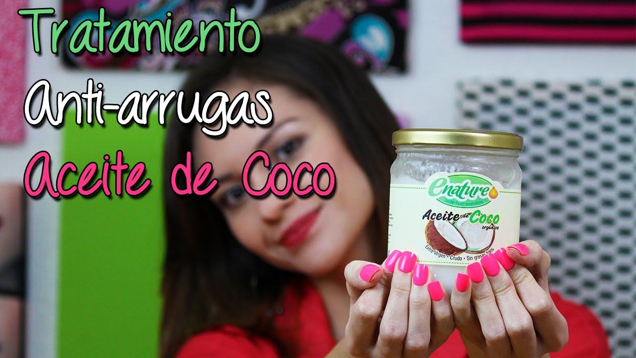el aceite de coco sirve para eliminar las arrugas